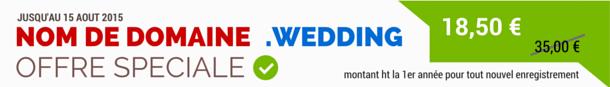 Nom de domaine .WEDDING (mariage)