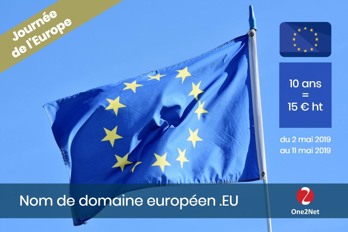 Acheter votre nom de domaine européenne EU pour 10 ans au tarif de 15 € ht